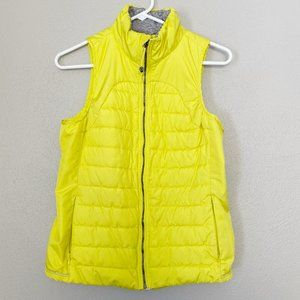 TANGERINE Neon Yellow Quilted Puffer Vest SZ S